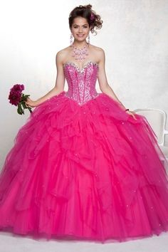 Customize your own perfect New Arrival Quinceanera Dresses Pink Ball Gown Sweetheart Sleeveless Floor length PQD6XLT3 affordable from us that will fit any qinceanera party.