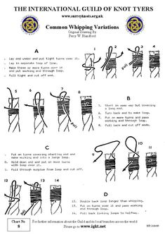 International Guild of Knot Tyers - Surrey Branch - 8 Common Whipping Variations How To Braid Rope, Knot Braid, Hair Buns, Braid Hair, Updo Hairstyle, Prom Hairstyles, Splicing Rope, Simple Workbench Plans, Sailing Knots