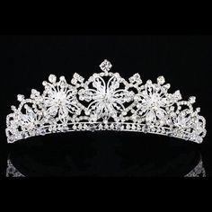Snowflake wedding tiara