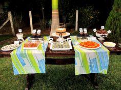 Mesa de bolo para aniversário masculino