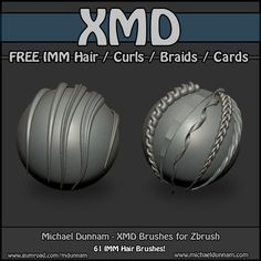 Free ZBrush IMM Hair Brushes! Ab Workout At Home, At Home Workouts, Tutorial Zbrush, 3d Tutorial, Top Ab Workouts, Zbrush Hair, Mixing Paint Colors, Best Hair Brush, Zbrush Character