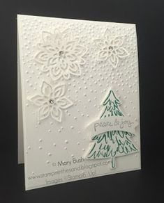 Stampin' in the Sand: Card: Flourish Flakes For Christmas; stampin up; Flourish thinlits die