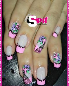Lace Nails, Pretty Nails, My Nails, Manicure, Nail Designs, Nail Polish, Lily, Nail Art, Beauty
