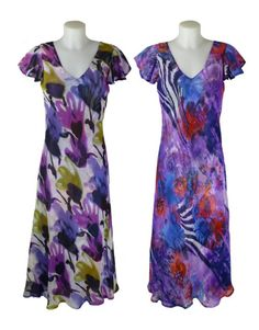 Sasa Purple Reversible Dress - Holiday, Cruise or special occasion wear, such as weddings or christenings.