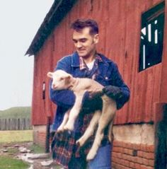 Morrissey with lamb