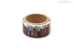 Round Top Yano Design Washi Tape - Debut Series Natural - Bookshelf - ROUND TOP YD-MK-001