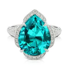 Caribbean Blue Apatite ring