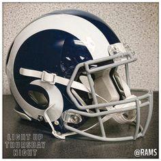 Los Angeles Rams 2016 color rush helmet. (1960s throwback)