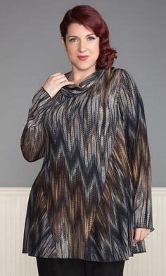 OMBRE TUNIC in Black / MiB Plus Size Fashion for Women / Fall Fashion / BOHO Chic / Plus Size Tunic