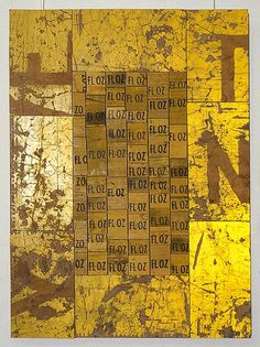 Rosalie Gascoigne (1917-1999), Imperial Measure, 1993/94. Retro-reflective sign, sawn soft drink crates on craftboard. 82cm H × 60cm W.