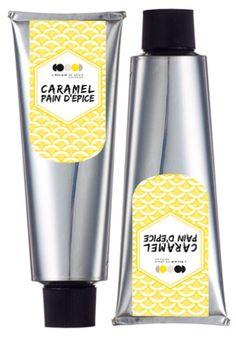 Tube Caramel Pain d'épice : caramel, crème, beurre, épices à pain d'épice - L'éclair de génie (Christophe Adam)