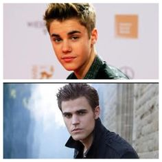 Paul Wesley and Justin Bieber... doppelganger? | The ...  Paul Wesley and...