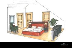 Schlafzimmer – Bett mit Holzrahmen Modern, Neuschwanstein Castle, Bedroom Bed, Living Dining Rooms, Wood Frames, New Construction, Interior, Homes, Trendy Tree