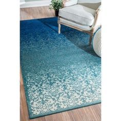 Shop for nuLOOM Modern Abstract Vintage Turquoise Rug (7'10 x 9'6). Get free shipping at Overstock.com - Your Online Home Decor Outlet Store! Get 5% in rewards with Club O!