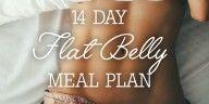 14 Day Flat Belly Meal Plan Ingredient List + Breakdown Per Meal!