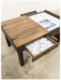Coffee Table Height, Diy Coffee Table, Diy Table, Wood Table, Couch Table, Table And Chair Sets, Console Table, Jigsaw Puzzle Table, Jigsaw Puzzles