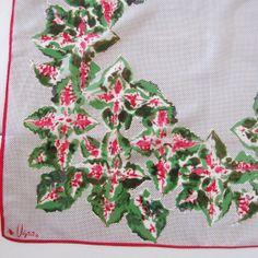 Vintage Vera Scarf Lady Bug Coleus Floral Print by CinfulOldies, $18.00