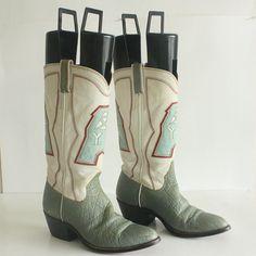 vintage Houston Oilers cowboy boots