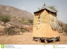 Granary In A Dogon Village, Mali, Africa. Stock Photography ...