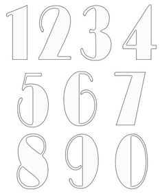 Free numbers clipart and patterns that you can use in all your craft projects. Lots of other craft clipart and patterns available. Number Templates, Alphabet Templates, Bullet Journal Font, Journal Fonts, Journaling, Typography Drawing, Graffiti Lettering, Wreath Drawing, Doodle Lettering