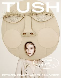 mouth mask fashion photography Tush Magazine In Your Face Tush Magazine, Magazine Covers, Cardboard Art, Art Plastique, Magazine Design, Editorial Design, Art Direction, Wearable Art, Art Lessons