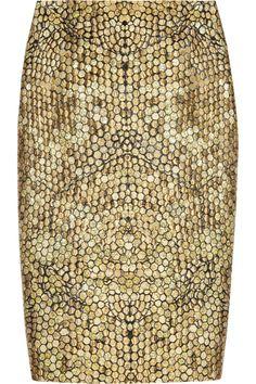 ALEXANDER MCQUEEN #skirt #gold #panal