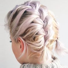9 Braids That Look Amazing on Short Hair via @ByrdieBeautyUK