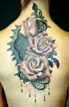 Lace & Roses tattoo.