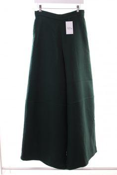 50 Cos Stoffhose waldgrün klassischer Stil   Mädchenflohmarkt