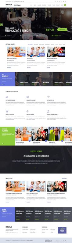Fit & Fab – Gym and Fitness Template is a Bootstrap HTML Site Template. Template Site, Templates, Web Design Inspiration, Design Ideas, Website Layout, Best Wordpress Themes, Green And Purple, Layout Design, Feel Good