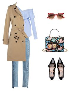 """Без названия #141"" by imageoffice on Polyvore featuring мода, French Connection, FAIR+true, Miu Miu и Burberry"