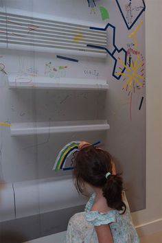 Its OK to write/draw on the walls at the Centre Pompidou's Children's Workshop