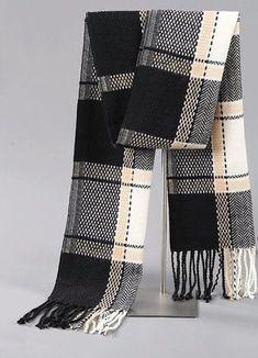 Wool Male Tassels Scarf Winter Warm Cashmere Scarves Printing Shawl Luxury Brand #Qiukolz #Scarf