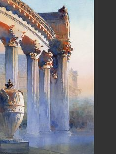 West Palace of Fine Arts Colonnade by Mike Reardon, Watercolorist