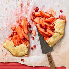 Cheddar-Crusted Apple-Pomegranate Galette