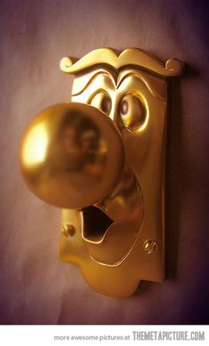 Alice in Wonderland doorknob.