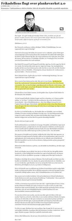 """Som mange andre forsøger Lillelund at løfte beslutningen truffet af Randers Byråd på pkt. 29 """"Forslag fra Frank Nørgaard, Dansk Folkeparti og Venstre, vedr. madordning i kommunale institutioner"""" op på et plan, hvor den kun kan befinde sig takket være mediernes evner til i bedste von Münchhausen stil at trække sig selv op ved håret. Se hele min kommentar under artiklen i JP"""