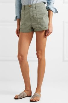 Madewell - Stretch-cotton Twill Shorts - Green - 27