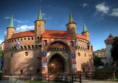 Kraków Barbican a fortified outpost once connected to the city walls. It is a historic gateway leading into the Old Town of Kraków, Poland... Shawn Frank