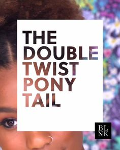HOW TO DO A DOUBLE TWIST PONYTAIL