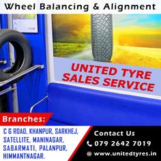 Driving on extremely bumpy roads, through potholes, or hitting curbs can affect your wheel alignment. Proper wheel alignment can expand the life of your tyre. #WheelAlignment #WheelBalancing #Ahmedabad #Tyres #Wheel