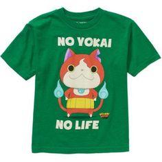 Yo-Kai Watch No Yo-Kai No Life Boys' Graphic Tee, Size: 6/7, Green