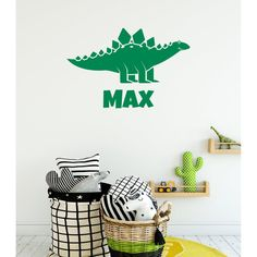 Custom Childrens Name Dinoaur Wall Sticker Boys Wall Stickers, Personalised Wall Stickers, Polka Dot Wall Decals, Wall Stickers Quotes, Polka Dot Walls, Personalized Wall Art, Little Girl Rooms, Room Paint, Envelopes