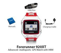 The Garmin Forerunner 920XT with HRM-Run is a sleek sport watch that tracks your distance, pace and heart rate.