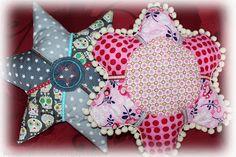 kreativkäfer: Flower/Star Pillow!