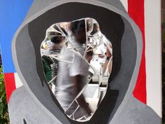 """Sean Hassett's """"Shattered Dreams,"""" a tribute to Trayvon Martin in acrylics, on canvas, with mirror shards, is part of the """"Movement"""" exhibit at Kean University. (Photo: ~Courtesy of Sean Hassett)"""