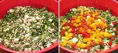 » Drob din piept de pui cu ardei coloratiCulorile din Farfurie Cobb Salad, Salsa, Mexican, Ethnic Recipes, Food, Meal, Salsa Music, Restaurant Salsa, Eten