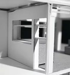 "Physical Wall Section Model 1/4""Scale  Architectural proposal by Kristen Gandy for the Louisiana Neighborhood at Zuni in Albuquerque, NM. ​ 2011"