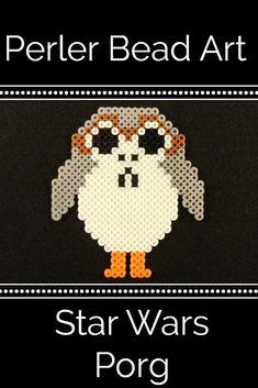 Make your own Perler Bead porg!  Perfect for all Star Wars fans.  #starwars #Perlerbeads #porgs #thelastjedi