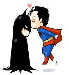 SuperMan Batman Kiss